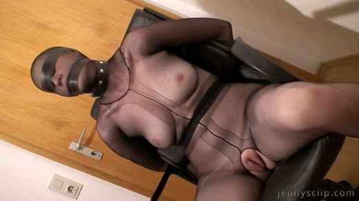 Bbw nylon tights encasement with black and nude pantyhose