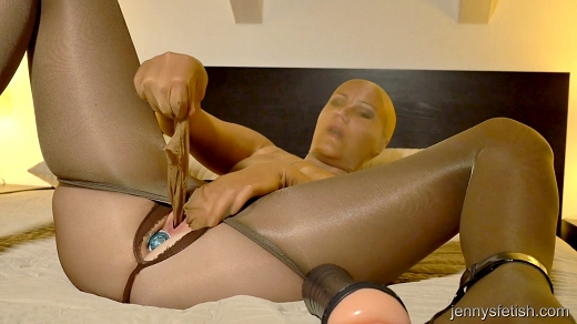 pantyhose encasement pussy spanking